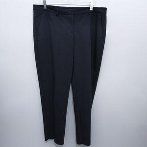 Harve Benard Navy Stretch Crop Trouser Dress Pant